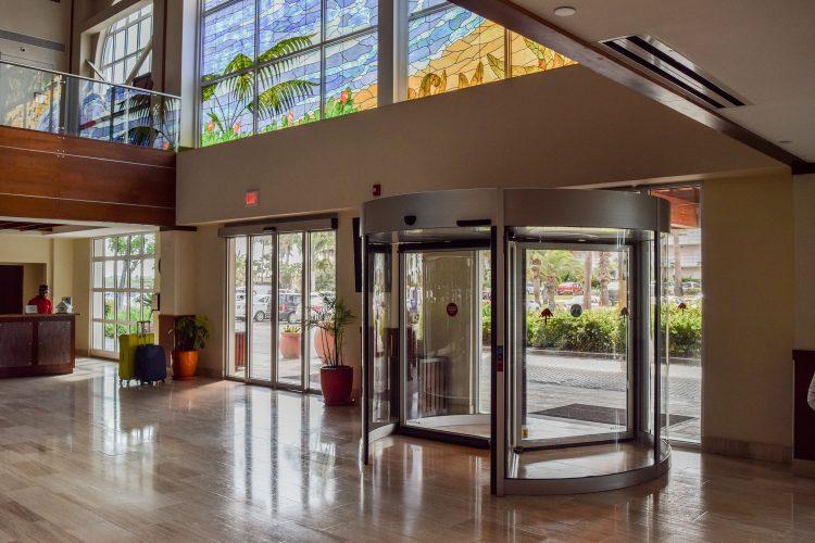 Revolving Door La Cabana Resort Aruba Interior Renovation Design